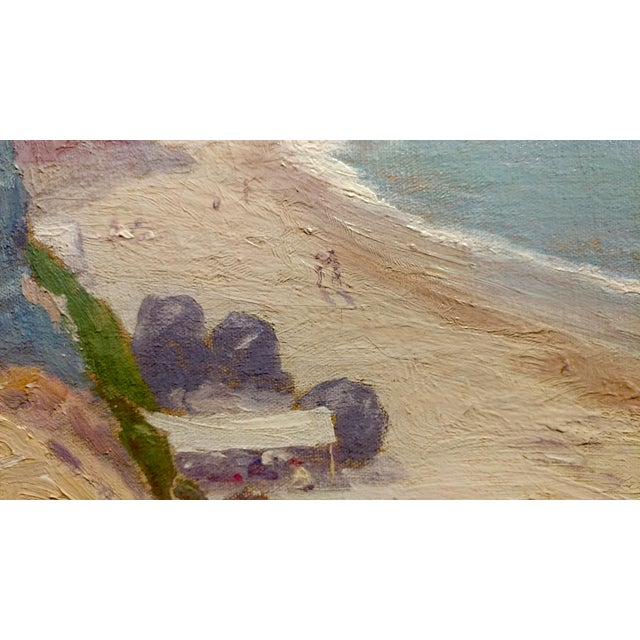 Oil Paint Charles L A Smith-Point Dume,Malibu c.1920s-California impressionist-Oil Painting For Sale - Image 7 of 10