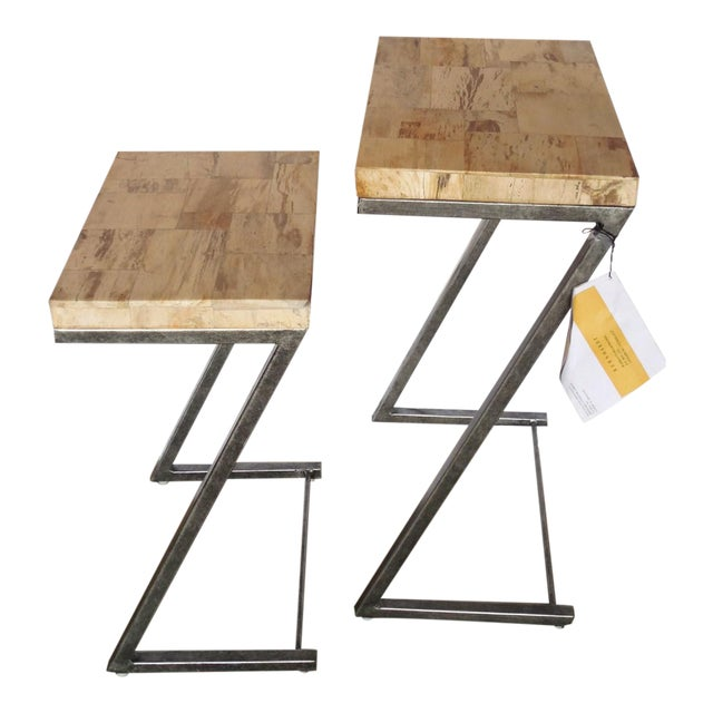 Bernhardt Petrified Wood Nesting Tables - A Pair - Image 1 of 9