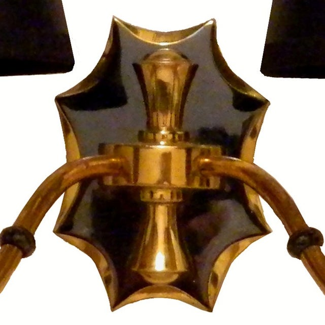 French Brass Sconces - A Pair - Image 4 of 4