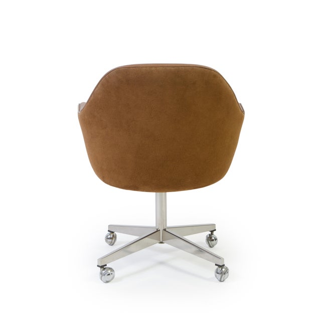 Saarinen for Knoll Saddle Leather & Suede Desk Chair - Image 5 of 9