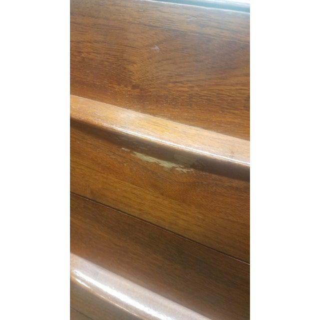 Brown Bissman Danish Modern 6-Drawer Solid Walnut Vanity With Bench For Sale - Image 8 of 13