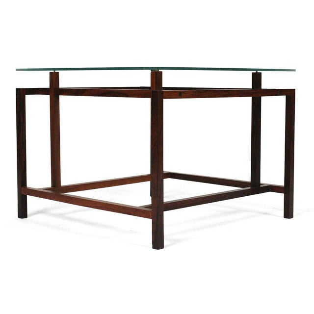 Danish Modern Komfort Rosewood Architectural Frame Side Tables - a Pair For Sale - Image 3 of 6