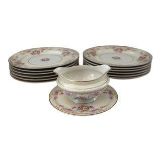 Warwick China Dinnerware - Set of 13 For Sale