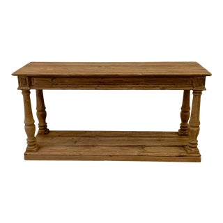 5ft. Wooden Refectory Farmhouse Console Table For Sale