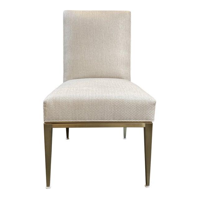 New Design Master Richfield Veranda Side Chair in Antique Bronze + Custom Upholstery For Sale