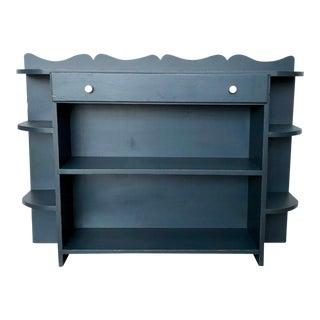 Vintage Blue Bookshelf For Sale