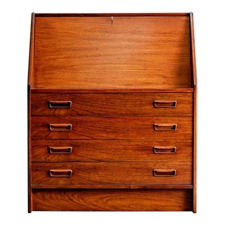Dyrlund Rosewood Danish Modern Desk For Sale