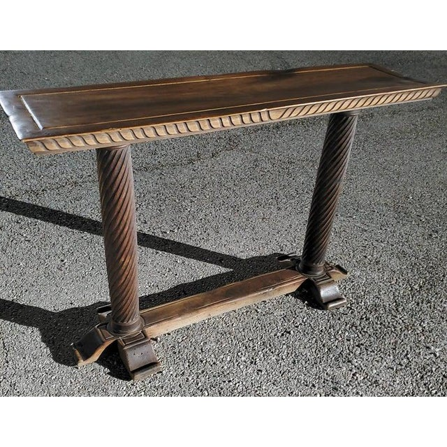 Early 20th Century Spanish Baroque Old World Console Table For Sale - Image 4 of 11
