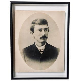 Early 1900s Portrait of a Gentleman With Striped Cravat For Sale