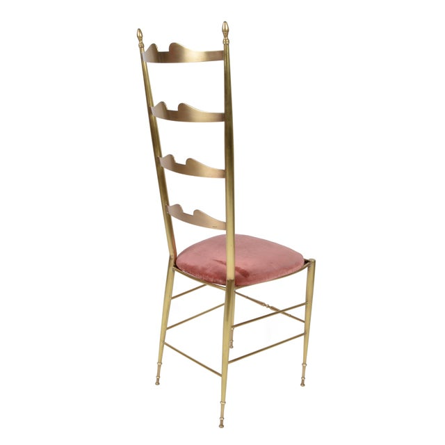 Chiavari Italian Chiavari Bronze High Back Chairs, a Pair For Sale - Image 4 of 12