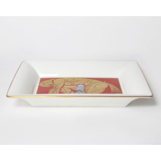 "Art Deco 1987 Art Deco Style Erté ""Samson & Delilah"" Bone China Jewelry Trinket Dish For Sale - Image 3 of 4"