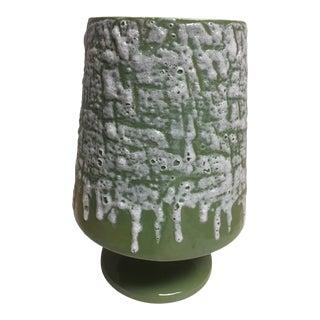 Vintage Mid-Century Modern Green Vase For Sale