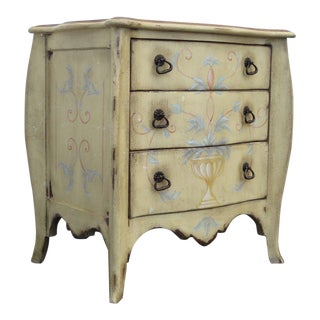 French Shabby Chic Commode Large Nightstand Small Dresser by Drexel For Sale