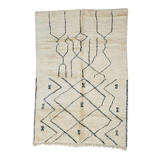 Moroccan Beni Ourain Rug-7′1″ × 10′1″ For Sale