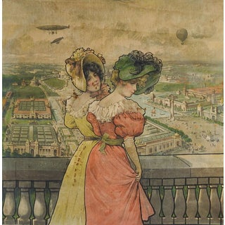 1904 St. Louis World's Fair Textile Zeppelins Balloon For Sale