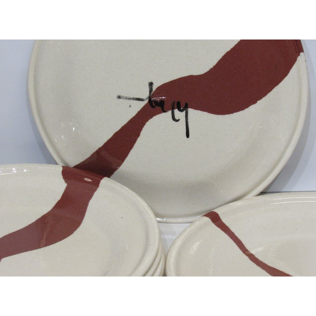 Tiffany and Co. Tiffany & Co. Terra Cotta Earthenware Plates - Set of 12 For Sale - Image 4 of 5