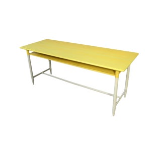 1960s Danish Modern Illums Bolighus Yellow Writing Desk For Sale
