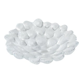 Late 20th Century Royal Copenhagen Crystal 'Musling' Clam Shell Bowl Designed by Per Lutken For Sale