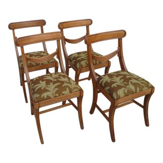 Vintage Carved Dining Chairs - Set of 4 For Sale