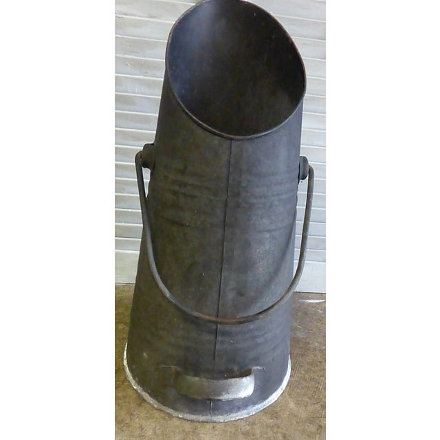 Vintage French Zinc Coal Scuttle-B For Sale - Image 4 of 6