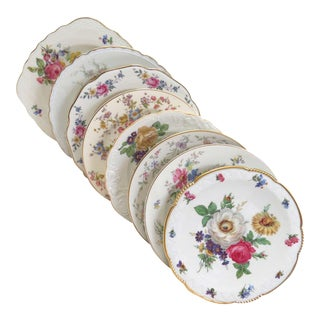 Vintage Mismatched Fine China Salad Plates - Set of 8