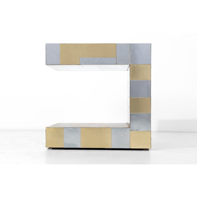 Mid-Century Modern Paul Evans Cityscape Side Table For Sale - Image 3 of 8