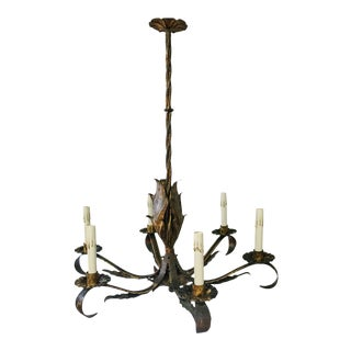 20th Century Spanish Tole Chandelier For Sale
