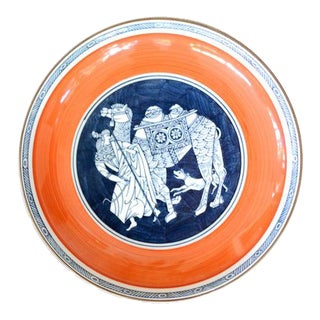 Chinoiserie Porcelain Camel Plate For Sale