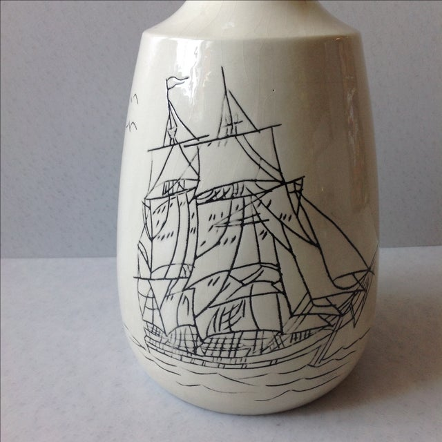 Hand-Crafted Nautical Pottery Decanter - Image 3 of 9