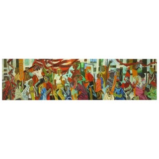 Important 12.5' 1965 Civil Rights Mural by Joan Linsley (1922-2000) For Sale
