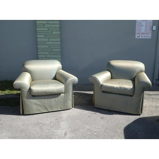 Vintage J Robert Scott Sally Sirkin Lewis Over Stuffed Lounge Chairs- A Pair Preview
