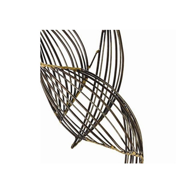 Abstract Mid-Century Winged Metal Sculpture - Image 2 of 3