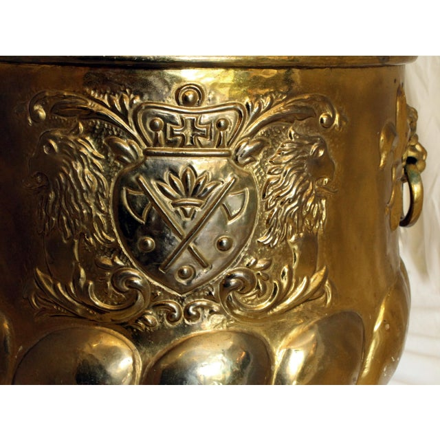 Late 19th Century Antique Brass Jardinere For Sale - Image 4 of 6