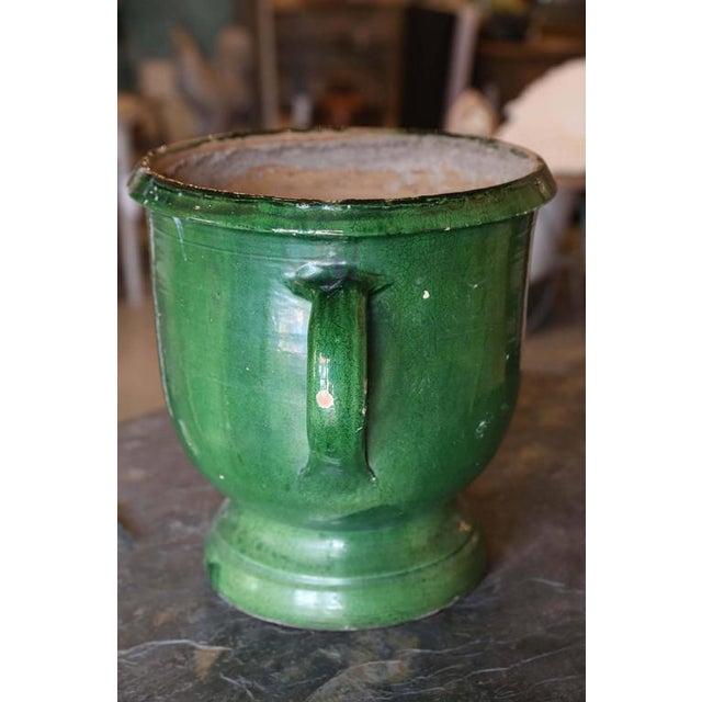 Green Glazed Terracotta Planter For Sale - Image 4 of 6