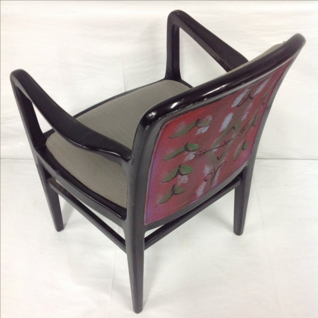 Mid-Century Modern Jack Lenor Larsen Painted Textile Lounge Chair For Sale - Image 3 of 8