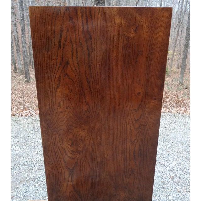 Vintage Henredon Campaign Oak Dresser Chest of Drawers For Sale - Image 9 of 13