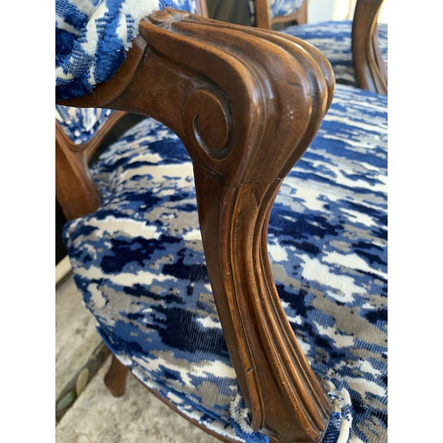 Antique French Carved Bergere Chairs-Pair For Sale - Image 9 of 13