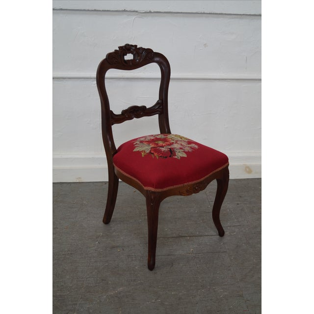 Antique Victorian Walnut Side Chair - Image 10 of 10
