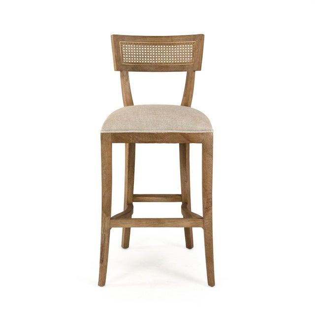 2020s Selborne Cane Back Bar Stool in Cream For Sale - Image 5 of 5