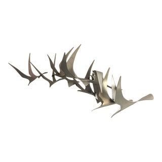 Curtis Jere Flock of Birds Wall Sculpture
