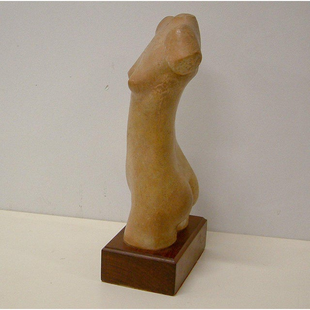 1977 Liyolilo Female Nude Torso Sculpture For Sale - Image 5 of 9