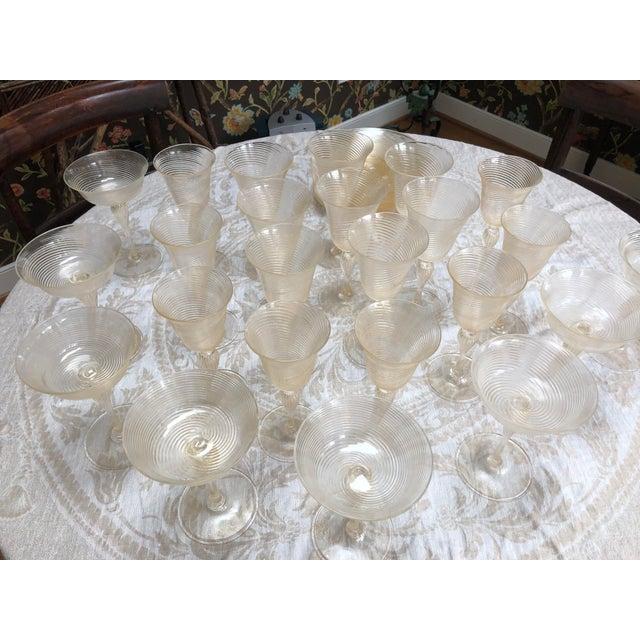 Gold Vintage Venetian Glassware/Barware - 32 Piece Set For Sale - Image 8 of 8
