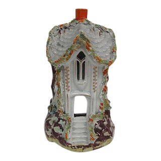 Antique English Staffordshire Candleholder Night Light