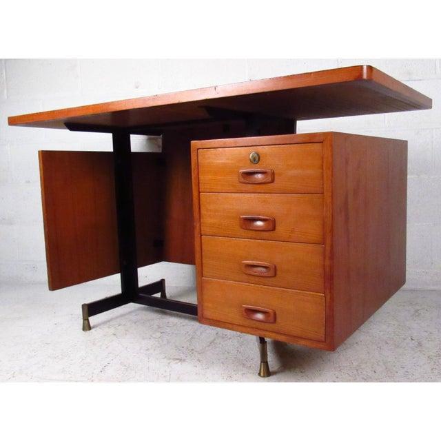 Mid-Century Teak Floating Top Desk - Image 2 of 11