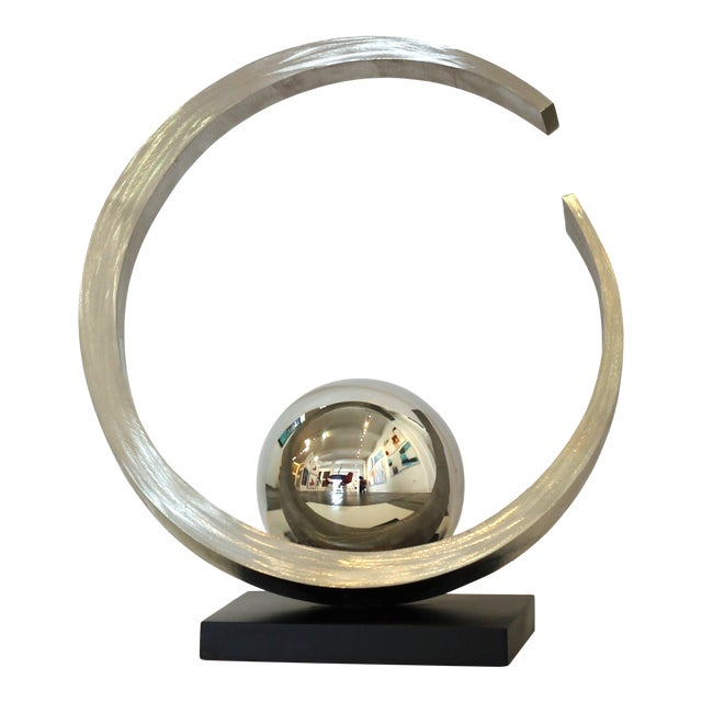 """""""Quest for Enlightenment"""" Stainless Steel Sculpture For Sale"""