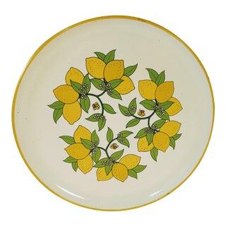 Vintage 1960s Lemon Bee Acrylic Platter For Sale