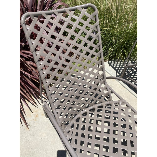 Traditional Vintage Brown Jordan Tamiami Chaise Lounges - a Pair For Sale - Image 3 of 8