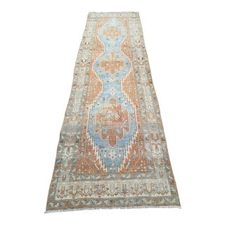 Vintage Persian Melayer Hand-Knotted Runner Rug For Sale