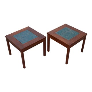 Pair of John Keal for Brown Saltman Constellation End Tables or Nightstands
