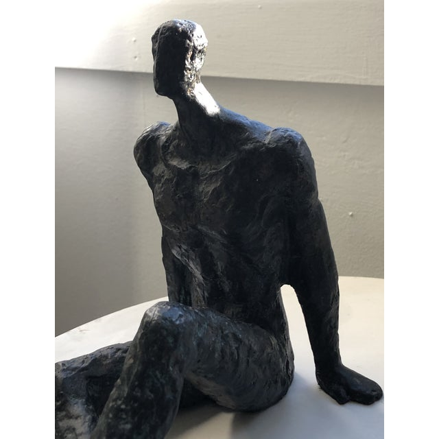 2 Bronze male figures highly textured sculptures in the style of Alberto Giacometti. 1950's. Willing to separate and sell...